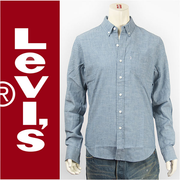 【国内正規品・送料無料】Levi's リーバイス クラシック ワンポケットシャツ シャンブレー ライトインディゴ Levi's Shirt 19586-0014 長袖【smtb-tk】