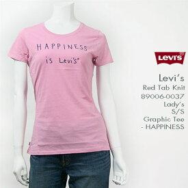 Levi's レディースリーバイス 半袖グラフィックTシャツ HAPPINESS Lady's Levi's Red Tab Knit 89006-0037
