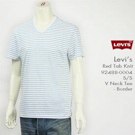 Levi's リーバイス 半袖VネックTシャツ ボーダー Levi's Red Tab Knit 92488-0004