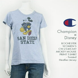 Champion x Disney レディース チャンピオン ミッキーマウスプリント カラー杢Tシャツ Champion ROCHESTER WOMEN'S SHORT SLEEVE MICKEY MOUSE PRINT TWISTED HEATHER T-SHIRT CW-Z348-349【smtb-tk】