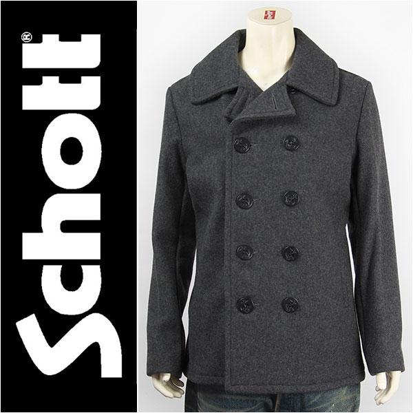 【国内正規品・米国製・送料無料】Schott ショット ピーコート メルトンウール オックスフォード SCHOTT 753US MODEL PEA COAT 24oz. 7118-16 ジャケット【smtb-tk】