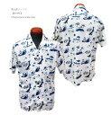 桃太郎ジーンズ【06-091】オリジナルプリント アロハシャツ06-091-20SS