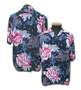 "Sun Surf(サンサーフ)Hawaiian Shirt(アロハ)ショートスリーブ"" PEACE FOR LIONA ""ss-36832-15SS"