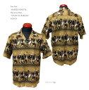 """Sun Surf(サンサーフ) MASKED MARVEL(マスクド マーベル)Hawaiian Shirt(アロハ)半袖コットンアロハオープンシャツタイプ""""NIGHT IN H…"""
