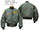 """BUZZ RICKSON'S バズリクソンズ Type MA-1 """"LION UNIFORM INC.""""613TH TAC. FIGHTER SQ. 2017年生産BR13895-17AWフライトジャケット …"""