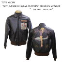 """TOYS McCOY (トイズマッコイ)""""ON THE WAY UP!""""TYPE A-2 ROUGH WEAR CLOTHING MARILYN MONROETMJ1516「P」フライトジャケット ミリタ…"""