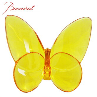 BACCARAT baccarat crystal PVC figure LUCKY BUTTERFLIES (butterfly) Amber #2102549