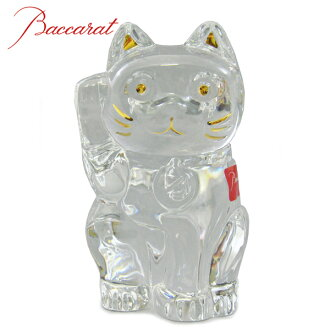 During the marathon points five times ★ BACCARAT baccarat crystal clear PVC figure LUCKY CAT (Maneki Neko) #2607786
