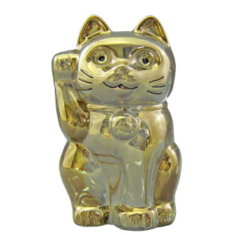 BACCARAT baccarat crystal PVC figure LUCKY CAT (Maneki Neko) Gold #2612997