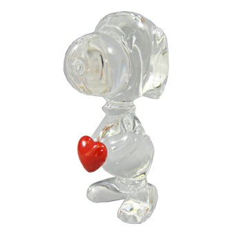 During the marathon points five times ★ BACCARAT baccarat crystal figure heart Snoopy #2613001