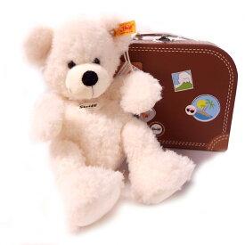 シュタイフ Steiff テディベア ロッテ スーツケース ホワイト 28cm LOTTE Teddy bear in suitcase 111464 スーツケース付き ベア ぬいぐるみ 【熨斗不可】