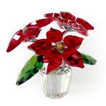 スワロフスキーSWAROVSKIクリスタルフィギュアポインセチア#5538626クリスマスインテリア置物送料無料