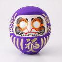 紫の福だるま;健康長寿・品格向上・祈願成就・至高など カラーだるま 紫 7号 サイズ 24cm 福入だるま 高崎だるま ダ…