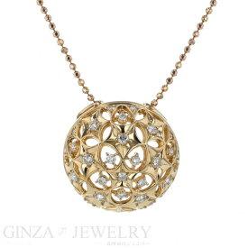 LA Soma ラソマ K18YG イエローゴールド ダイヤモンド 0.60ct ネックレス フラワー 星 花 透かし ドーム型 40.5cm【新品仕上済】【zz】【中古】【送料無料】