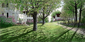 キャロル・コレット 「Lilac Time」Collette 手彩色銅版画選べる新品額付 国内 送料無料