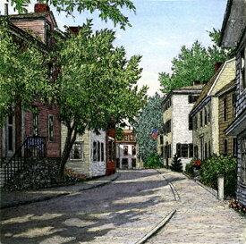 キャロル・コレット 「Summer in the Village」Collette 手彩色銅版画選べる新品額付 国内 送料無料