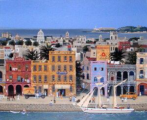 ミッシェル・ドラクロア「La Havane」直筆サイン入り限定版画 シルクスクリーン選べる新品額付 国内 送料無料