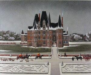 ミッシェル・ドラクロア「Le Chateau d'O」-The Castle of O-直筆サイン入り限定版画 シルクスクリーン選べる新品額付 国内 送料無料