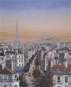 ミッシェル・ドラクロア「ザ・イエローバルーン」-Le Ballon Jaune(A Visit to Paris)-直筆サイン入り限定版画 シルクスクリーン選べる新品額付 国内 送料無料