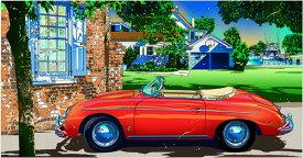 鈴木英人「ポルシェ356スピードスター 2」PORSCHE 356 SPEEDSTERS II 2014年 EMグラフ 額付版画作品国内 送料無料