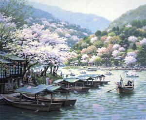 笹倉鉄平 「フローティング・スプリング・カラー」〜Floating Spring Colors〜2010年 キャンバス・ジグレー 額付版画作品