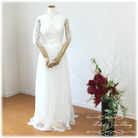 ウェディングドレス Aライン ロングドレス ラウンドネック 二次会 ウエディングドレス レース 花嫁ドレス WeddingDress 5号7号9号11号 gcd_7020