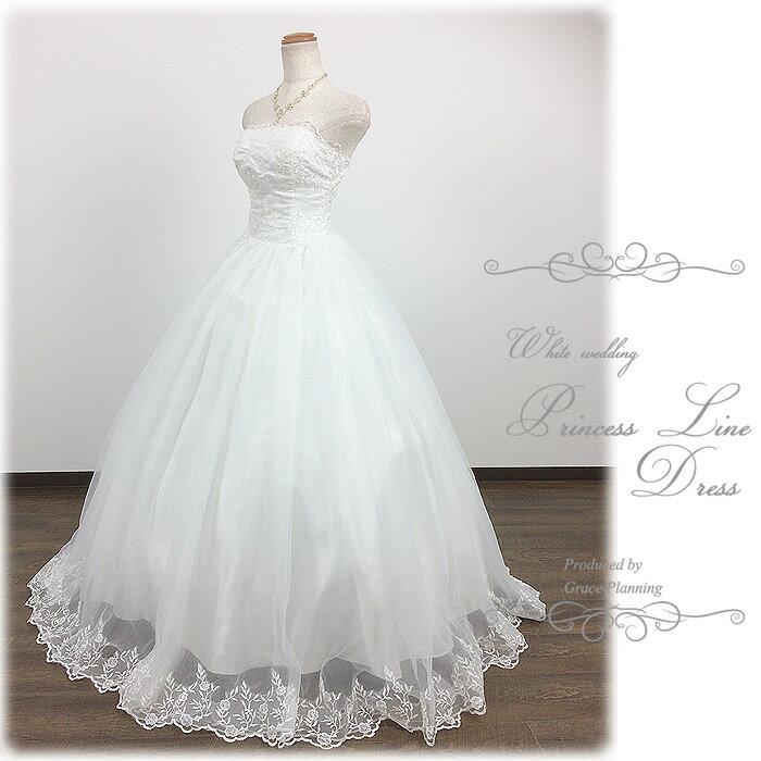 【あす楽OK12時】刺繍のビスチェとスカート プリンセスラインのウェディングドレス WeddingDress 5号7号9号11号13号 結婚式や二次会 花嫁ドレス 海外挙式 フォトウェディングにお勧めします gcd8528