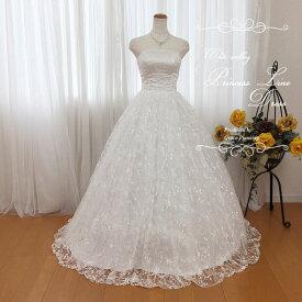 【在庫処分】ビスチェの刺繍が美しい ふんわり広がるウェディングドレス 二次会 白 gcd8826 WeddingDress 7号9号11号 結婚式 ウエディングドレス 花嫁ドレス 海外挙式 フォトウェディングにお勧めします