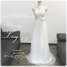 【在庫処分】刺繍のウェディングドレス 二次会 白 肩布ありワンピースタイプ スレンダーラインでスタイル良く ウエディングドレス 花嫁ドレス オススメ WeddingDress gcd8832