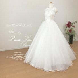 25dd225289aa3 刺繍と小花が可愛いワンピースタイプのAラインウェディングドレス 二次会 白 ロングドレス