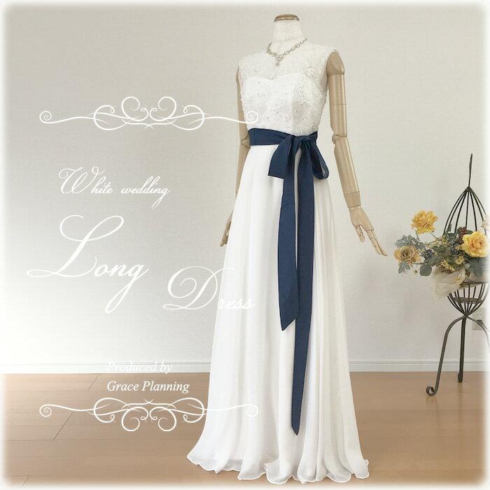 【あす楽OK12時】清楚な刺繍のウェディングドレス ノースリーブのワンピースタイプ スレンダーラインでスタイル良く 二次会 花嫁ドレス オススメ WeddingDress gcd8852[5号7号9号11号13号]