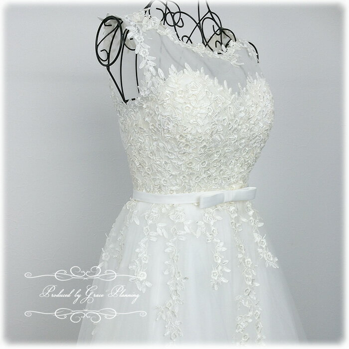 【Sサイズ追加】ウェディングドレス クラシカルなバトーネック ノースリーブのウェディングドレス 二次会 花嫁ドレス 人気です gcd8873 5号7号9号11号