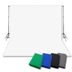 選べる背景布+横幅伸縮式背景スタンドセット 撮影 特大 撮影用背景スタンド人気のセットST-1-L_cotton バックグラウンドサポート 背景布スタンド