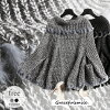 Crochet knit / outer poncho cape moco moco rib knit / wedding ceremony second party invite four Mulready's party [cab64] that rabbit fur is cute light
