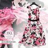 Size 30s 40s 50s 60s wedding ceremony LL 3L 3XL adult of superior grade / party dress others which dress invite dress Lady's pink floral design class reunion class visit childcare visit knee length flare has a big and fashion [cag44] not to put on