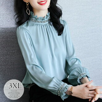 It is Kaai いきれいめ figure cover Lady's /[che18] for 50 generations for 40 generations for 30 generations for Mother's Day shirt blouse business Recruit commuting female office worker graduation ceremony graduation ceremony entrance ceremony entering a kind