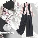 ドレス ワンピース ゴージャス 長袖 セパレート セットアップ シャツ ブラウス リボン 立ち襟 フリルピンク ブラック …