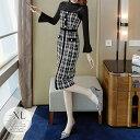 「セール品」ドレス レディース 大きいサイズ 結婚式 ワンピース パーティー 母親 長袖 きれいめ ブラック ホワイト …