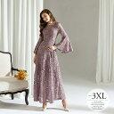 「セール品」ロングドレス フォーマルドレス 結婚式 ワンピース レディース 大きいサイズ 披露宴 母親 きれいめ パー…