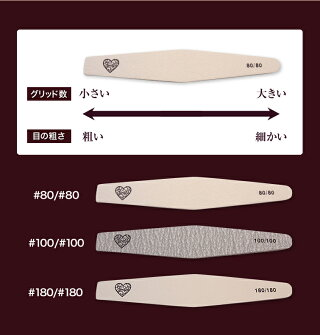【ゆうメール対象商品】日本製のヤスリ材を使用した長持ちする高級ファイルグレースジェルダイヤモンドファイルお得な10本セット