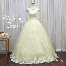 【在庫処分】ウエディングドレス プリンセスライン ロングドレス(7号 9号 11号/Sサイズ Mサイズ/アイボリー) 結婚式 二次会 ブライダルコスチューム 花嫁衣裳 挙式 披露宴 フォトウエディング ウェディングドレス イベント (32016iv-t)