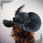 髪飾りヘッドドレス/ブラック・黒/帽子