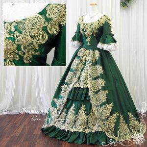 grace企画|カラードレス|緑グリーン系お姫様