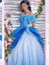 【サイズオーダー】カラードレス ウェディングドレス ブルー系 5号/7号/9号/11号/13号/15号/17号/19号/21号/23号/25号 プリンセスライ…