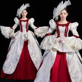 【サイズ有S/M/L/XL/2XL/3XL】貴族 ドレス ステージ衣装 舞台衣装 オペラ声楽 中世貴族風 お姫様ドレス クリスマス パーティー 中世ファスナータイプ 演奏会用ロングドレス 大きいサイズ 刺繍 プリンセスライン フリル 長袖 Aラインda742s1s1c7/代引不可