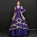 【フリーサイズ】貴族 ドレス お姫様 衣装 カラー ロング 宮廷 お嬢様 舞台衣装 王族服 ジュリエット ヨーロッパ風 プ…