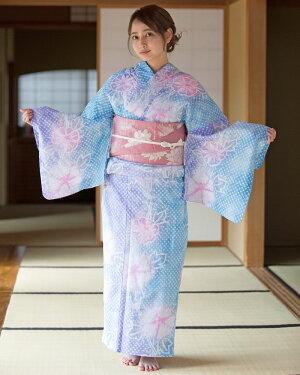 【送料無料】浴衣セット女性浴衣小袋帯下駄セットレトロ浴衣
