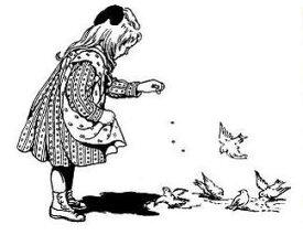 ラバースタンプ 小鳥に餌やり 【クリング】 ラバースタンプ 輸入スタンプ アートスタンプ