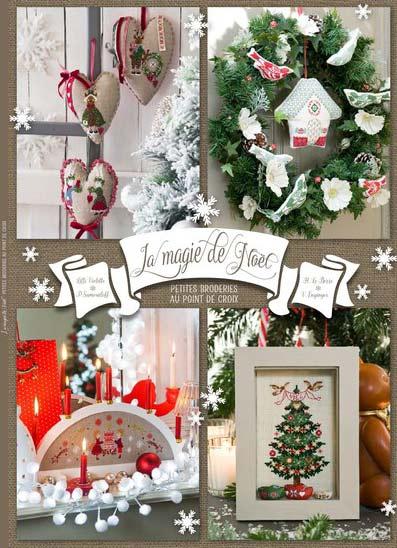 LA MAGIE DE NOEL クリスマスのクロスステッチ刺繍図案集 フランス輸入雑誌・書籍