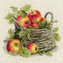 クロスステッチ 刺繍キット RIOLIS Ripe Apples 熟したリンゴ メール便(ゆうパケット)送料無料 極細毛糸で刺すロシアのキット リオリス